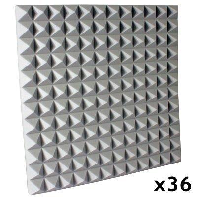 Fire Rated Studio Foam Kit Pyramid Gray