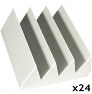 fire rated studio foam kit bass wedge white 6