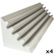 fire rated studio foam kit corner trap white 48
