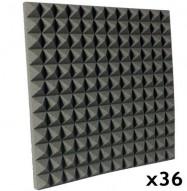 pyramid studio foam kit charcoal 36