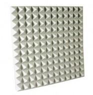 white foam pyramid