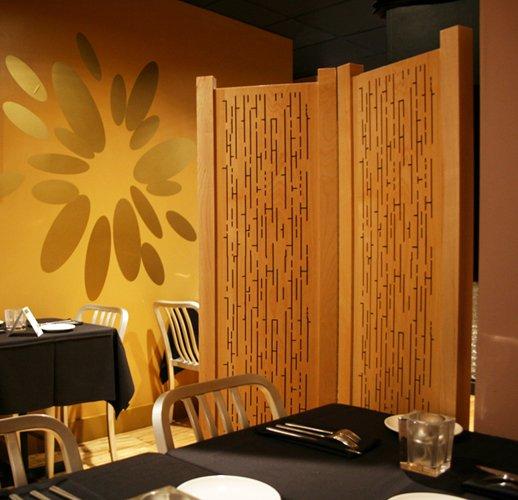 Acoustic Wood Partition - Bistro