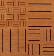 Eccotone Acoustic Wood Panel - Parquet Detail