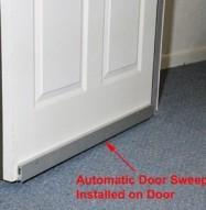 Soundproofing Automatic Door Sweep Installed