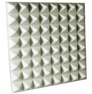 Fire Rated Studio Foam Pyramid White 3 inch