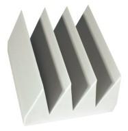 Fire Rated Studio Foam Bass Wedge White 6 & 8 inch