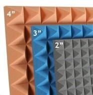 Pyramid 2,3 & 4 inch Studio Foam
