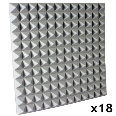 Fire Rated Studio Foam Kit Pyramid Gray