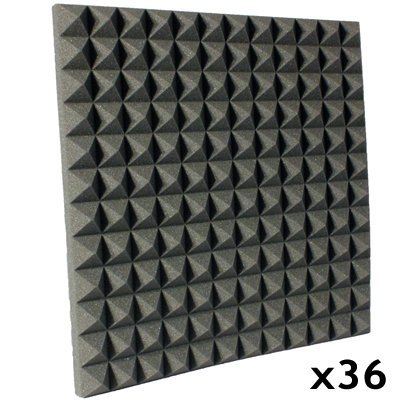 Acoustic Foam Kit Pyramid Charcoal