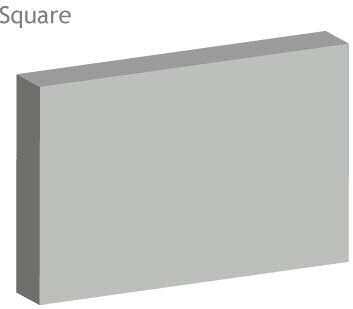 square edge acoustic baffle