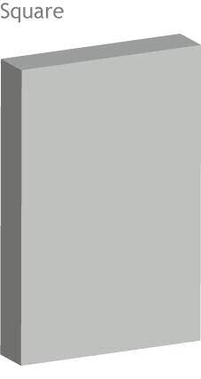 square corner acoustic panel