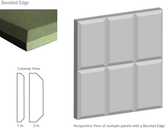 beveled edge acoustic panel