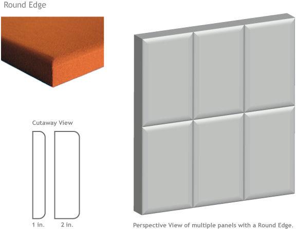 round edge acoustic panel
