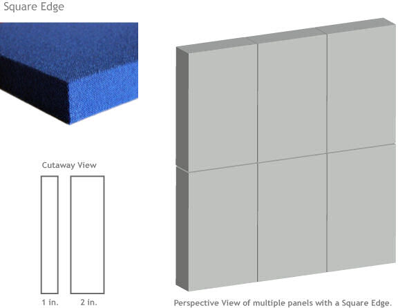 square edge acoustic panel