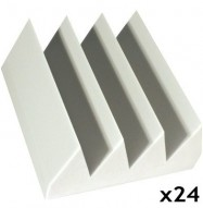 fire rated acoustic foam kit bass wedge white 6