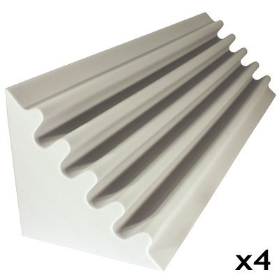 fire rated acoustic foam kit corner trap white 48