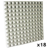 fire rated studio foam kit pyramid white 1