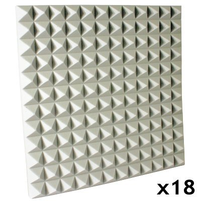 fire rated acoustic foam kit pyramid white 1