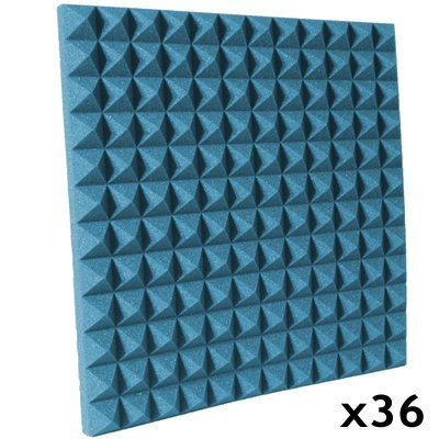 pyramid acoustic foam kit aqua 36