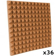 pyramid acoustic foam kit pumpkin 36