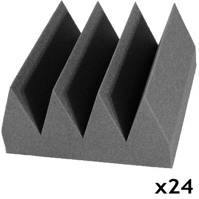 acoustic foam bass wedge charcoal 24