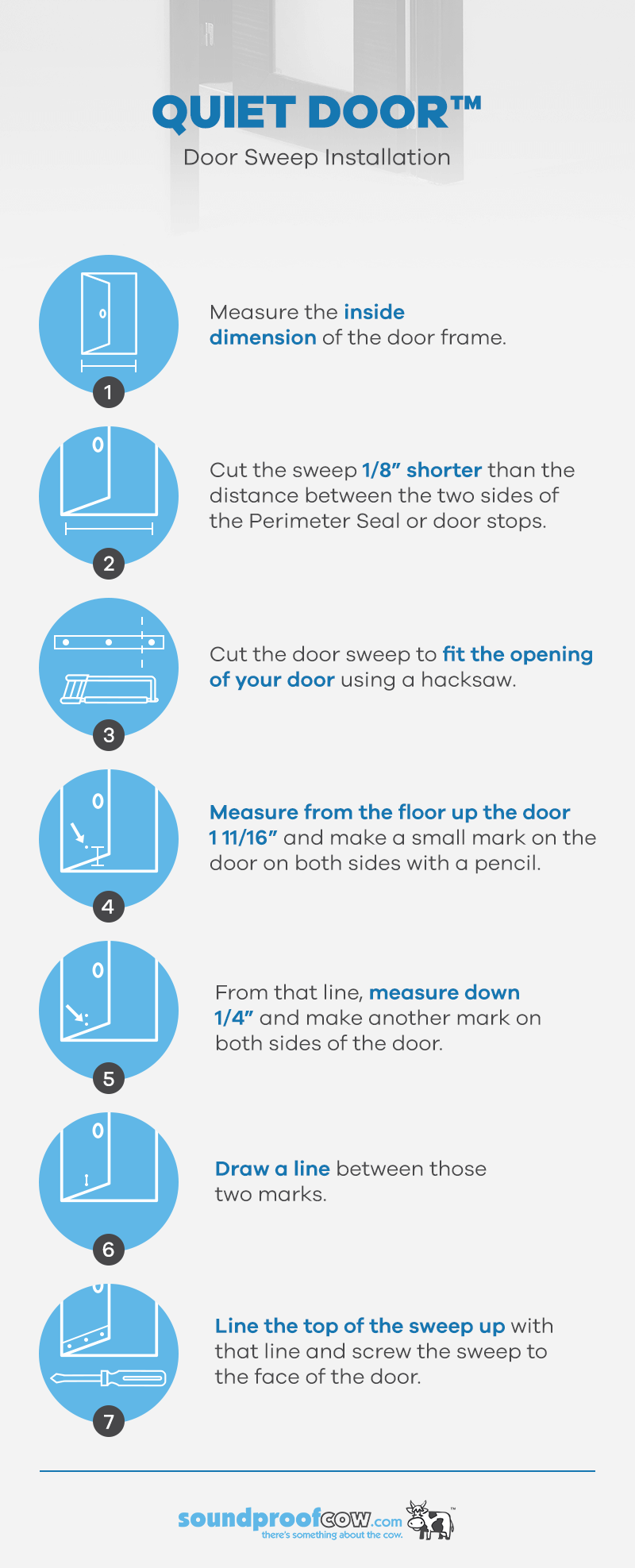 Quiet Door Door Sweep Installation Instructions