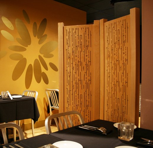 Acoustic Wood Partition - Bistro