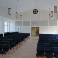 church acoustic panel installation