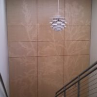 acoustic wood panel installation