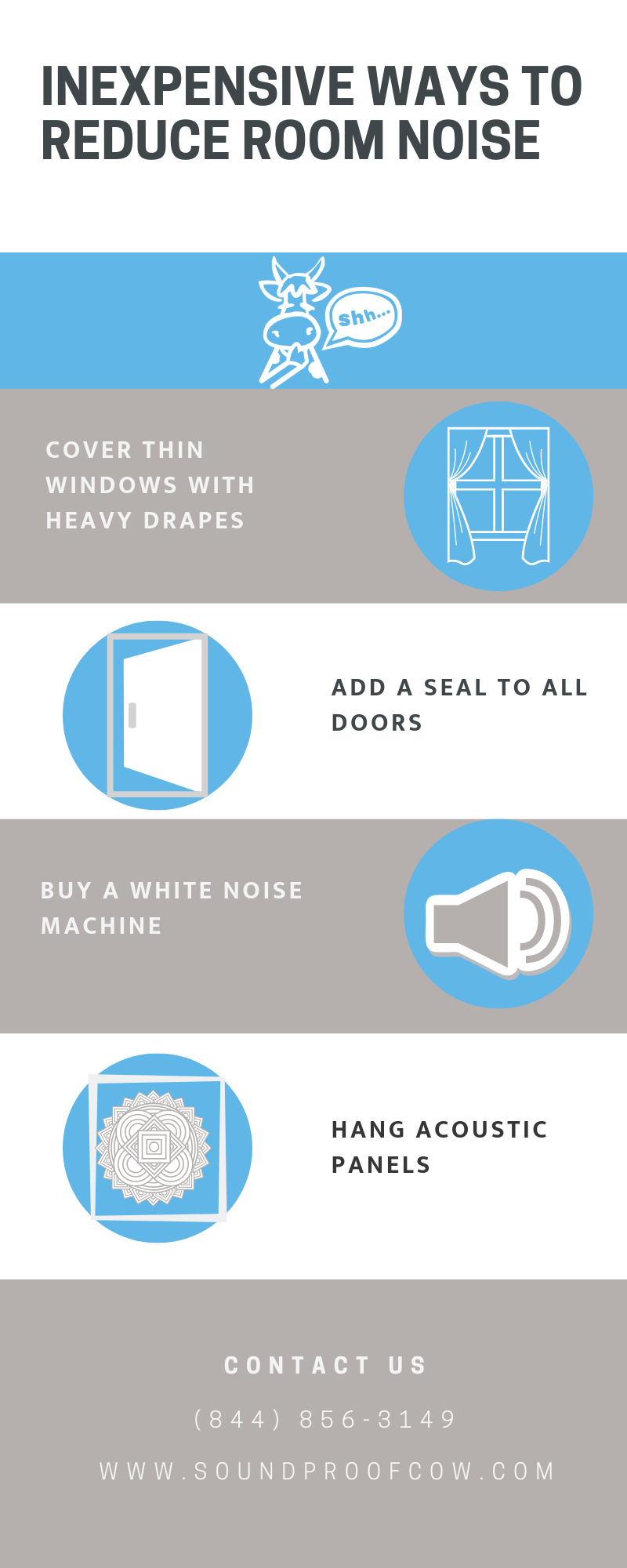 Inexpensive Ways to Reduce Room Noise
