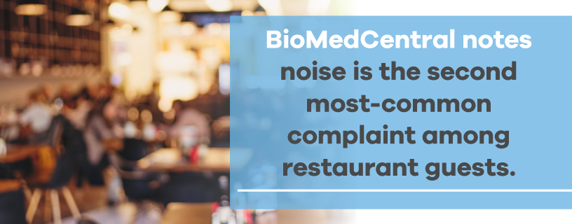 noise is second most common complaint among restaurant guests