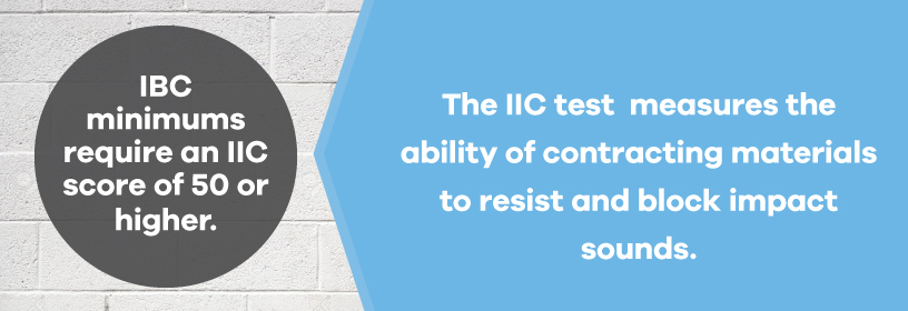 IIC test for contractor soundproofing