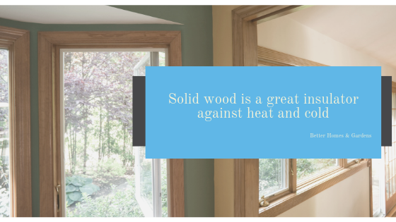 Solid Wood as Insulator