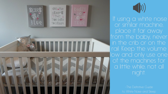 using white noise in the nursery