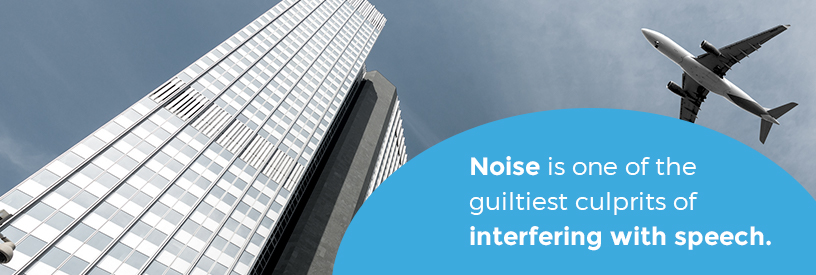noise interfering with speech