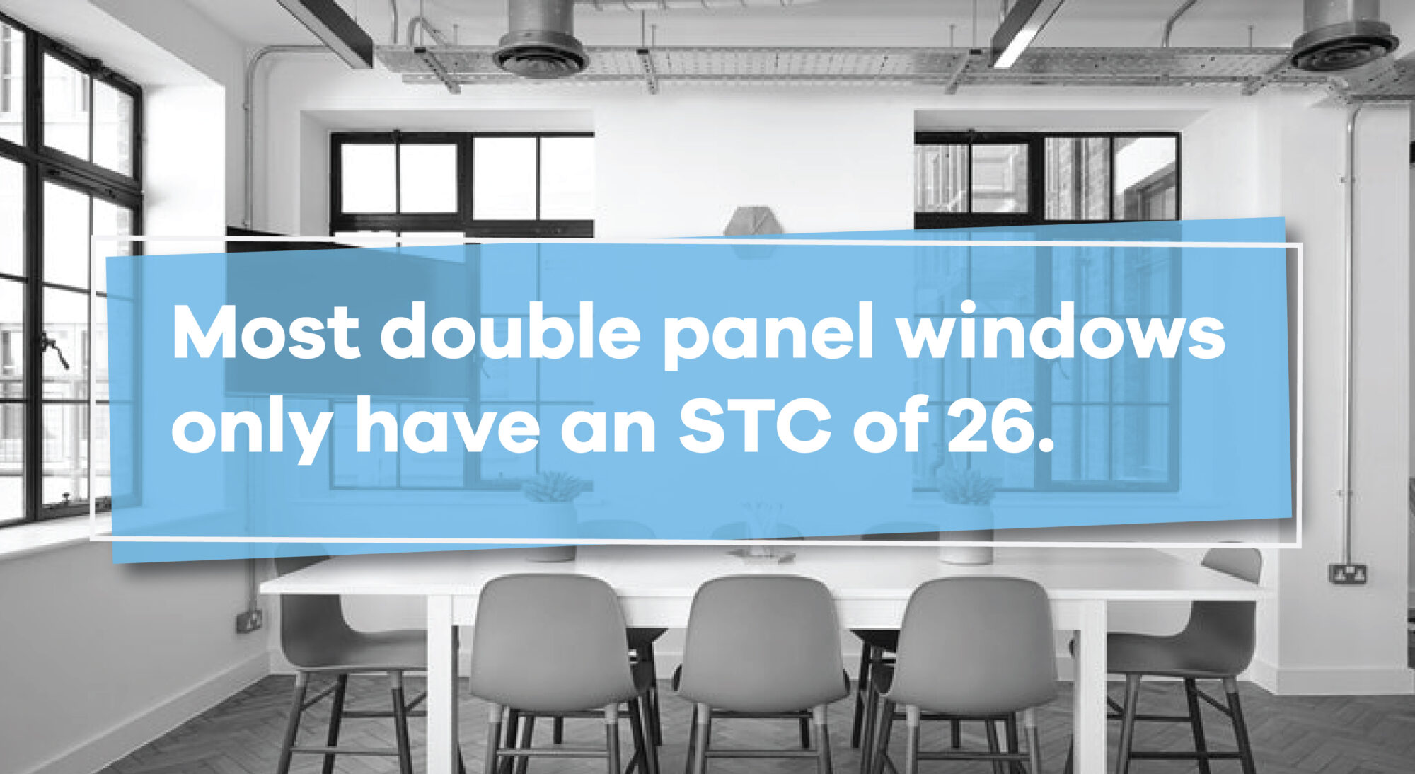double panel windows have a STC of 26