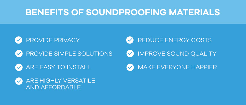 benefits of soundproofing materials