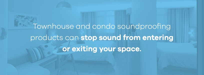 townhouse and condo soundproofing products
