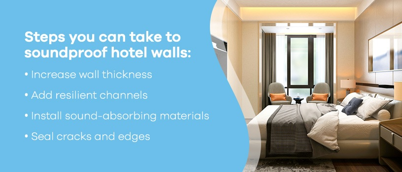 Steps to Soundproof Hotel Walls