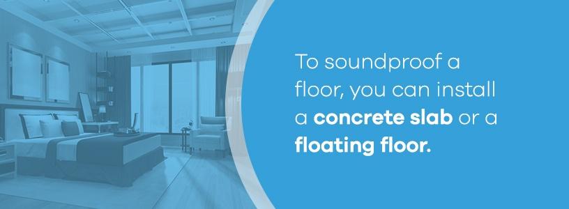 Soundproof a Floor