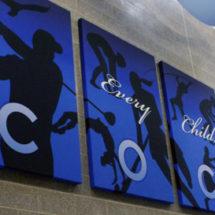 blue acoustic panels