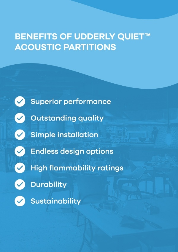Benefits of Udderly Quiet™ Acoustic Partitions