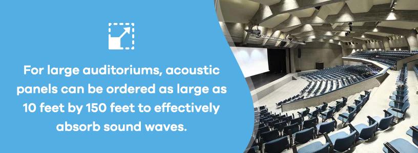 acoustic panels for large auditoriums