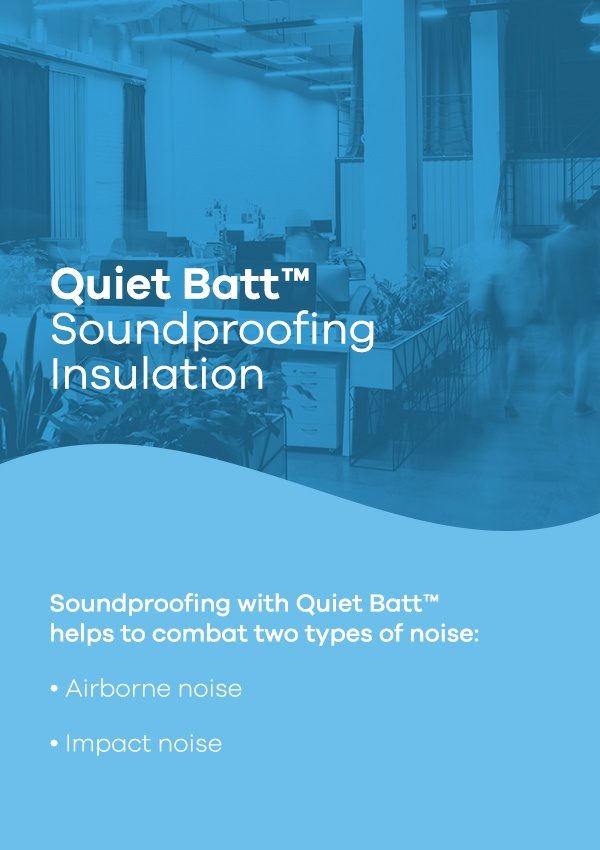Quiet Batt Soundproofing Insulation