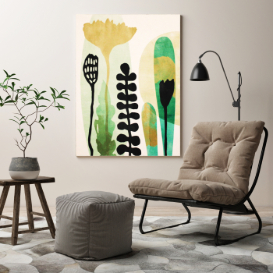 room with chair, table and painting