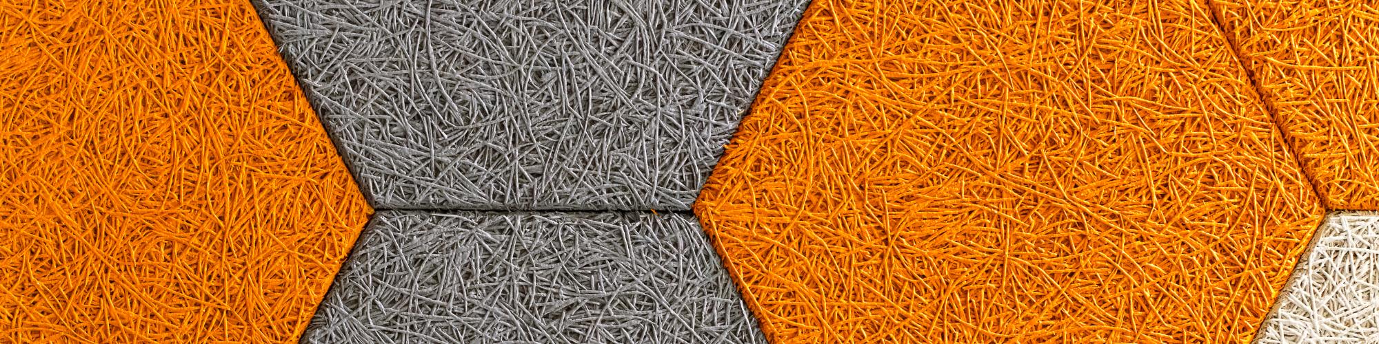 orange and grey panels