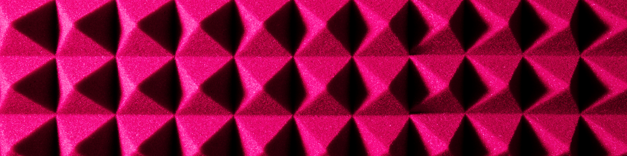 up close of pink soundproofing foam
