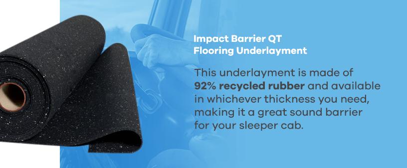 Impact Barrier QT Flooring Underlayment for Trucks
