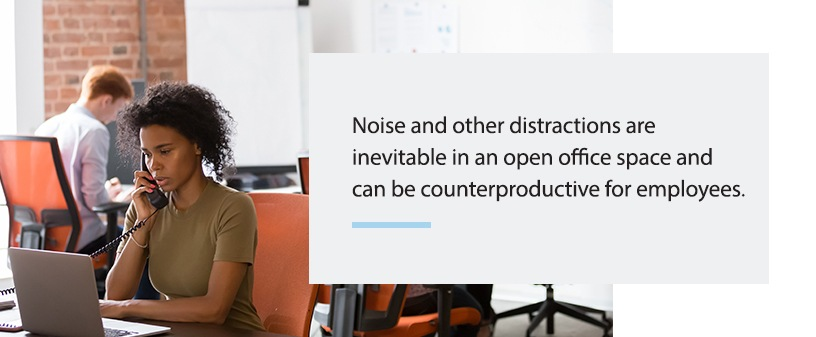 noise and distractions in open offices