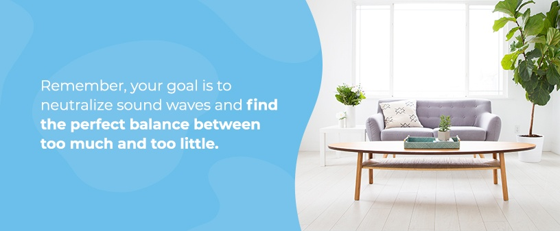 Neutralize sound waves in your living room